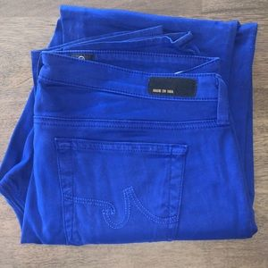 AG Stilt Crop Blue Jean